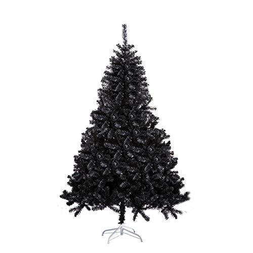 JRMU Negro Artificial Completo Árbol De Navidad, Fácil De Ensamblar Material PVC Bisagras Árbol De Navidad No Luz Soporte Metálico para Apartamento Chimenea Partido Inicio Oficina Tienda-120cm(4ft)