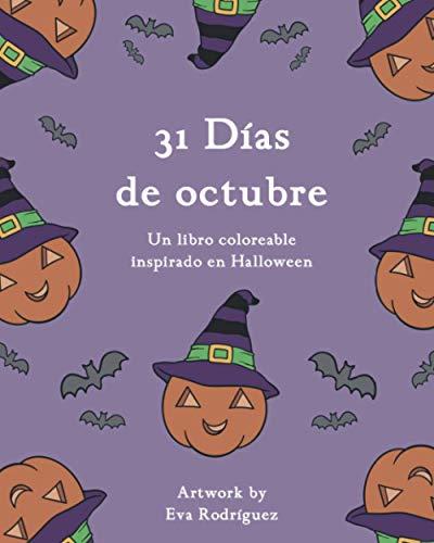 31 Días de octubre: Un libro coloreable inspirado en Halloween