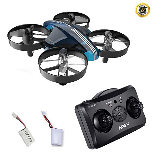 HGLRC APEX GD65A Mini Drone for Kids Remote Controller Helicopter 6 Axis Gyro Micro Plane with Headless Hold Altitude 3D Flip Return Home Function for Kid Drone Toys Ready to Fly Quadrocopter (Blue)