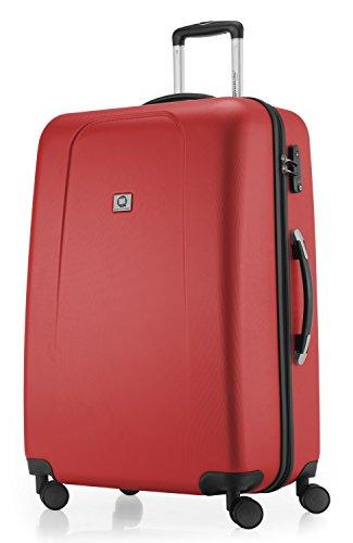 HAUPTSTADTKOFFER - Wedding - Valigia Trolley rigido grande ABS TSA 4 ruote, 75 cm, 103 litri, Rosso