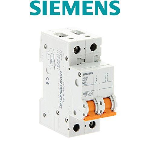 Siemens 5SJ6510-7FC - Interruptor magnetotérmico automatico 1P+N 10A, 400V