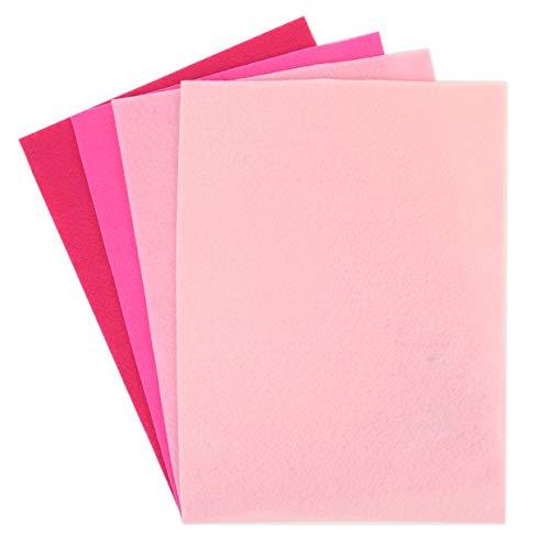 Dovecraft DCFL018 Set di 8 fogli di feltro, formato A4, colore: Rosa (2 fogli per colore)