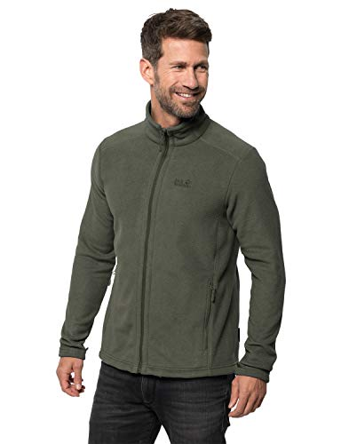 Jack Wolfskin Herren Midnight Moon Men Fleecejacke, Dark Moss, M