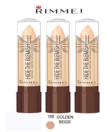 Kit 3 pz Rimmel Hide The Blemish Correcteur en stick 4,5 g 105 Golden Beige