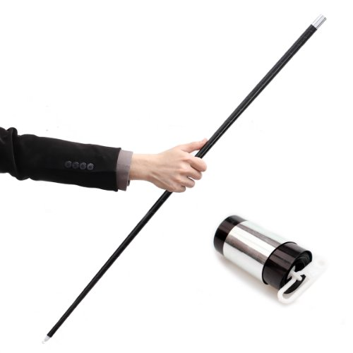 Black Plastic Appearing Cane with Video Tutorial - Stage Magic Trick by Magic Seed