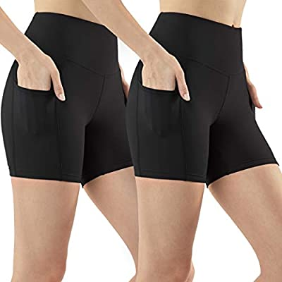 """TSLA Shorts 7"""" Bike Running Yoga w Hidden Pockets FYS11/FYS14/FYP11"""