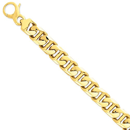 Diamond2Deal - Bracciale da donna in oro giallo 14 kt, 16 mm, 21,6 cm
