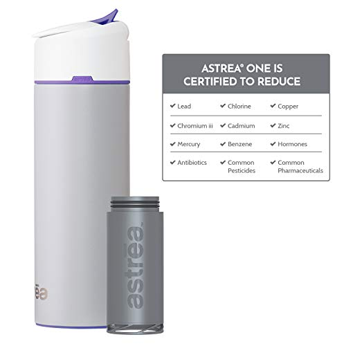 Astrea ONE Filtering Water Bottle, Black with Tropic Lime Accent