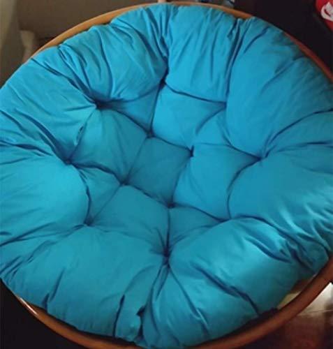 ZXL gevormde kussen voor schommelstoel, zachte kussens van katoenwilg, om op te hangen, voor zitkussens voor stoelen buiten, terras, binnen, blauw, 100 x 100 cm