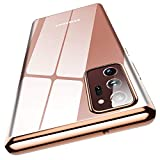 Meifigno Clear Note 20 Ultra Case, Samsung Note 20 Ultra 5G Case, Ultra Thin & Slim Fit Flexible TPU Case, Compatible with Samsung Galaxy Note 20 Ultra 6.9' (2020) - Crystal Gold