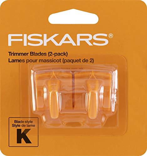 Fiskars 177500-1001 Fiskars Reinforced Trimmer Blades (2 Pack), Packaging May Vary , Orange