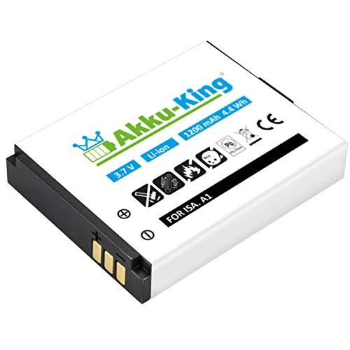 Akku-King Akku kompatibel mit ISAW A1 / A2 - Li-Ion 1200mAh - für X7, ISAW A1, A2 Ace, A3, Extreme Actionpro X7