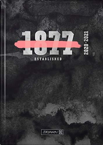 """BRUNNEN 1072120011 """"Neon"""", Wochenkalender/Schülerkalender 2020/2021, 2 Seiten = 1 Woche , Blattgröße 14,8 x 21 cm , A5 , Hardcover-Einband wattiert"""