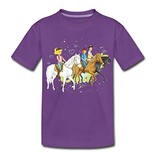 Bibi Und Tina Ausritt Mit Alexander Falkenstein Kinder Premium T-Shirt, 110-116, Lila