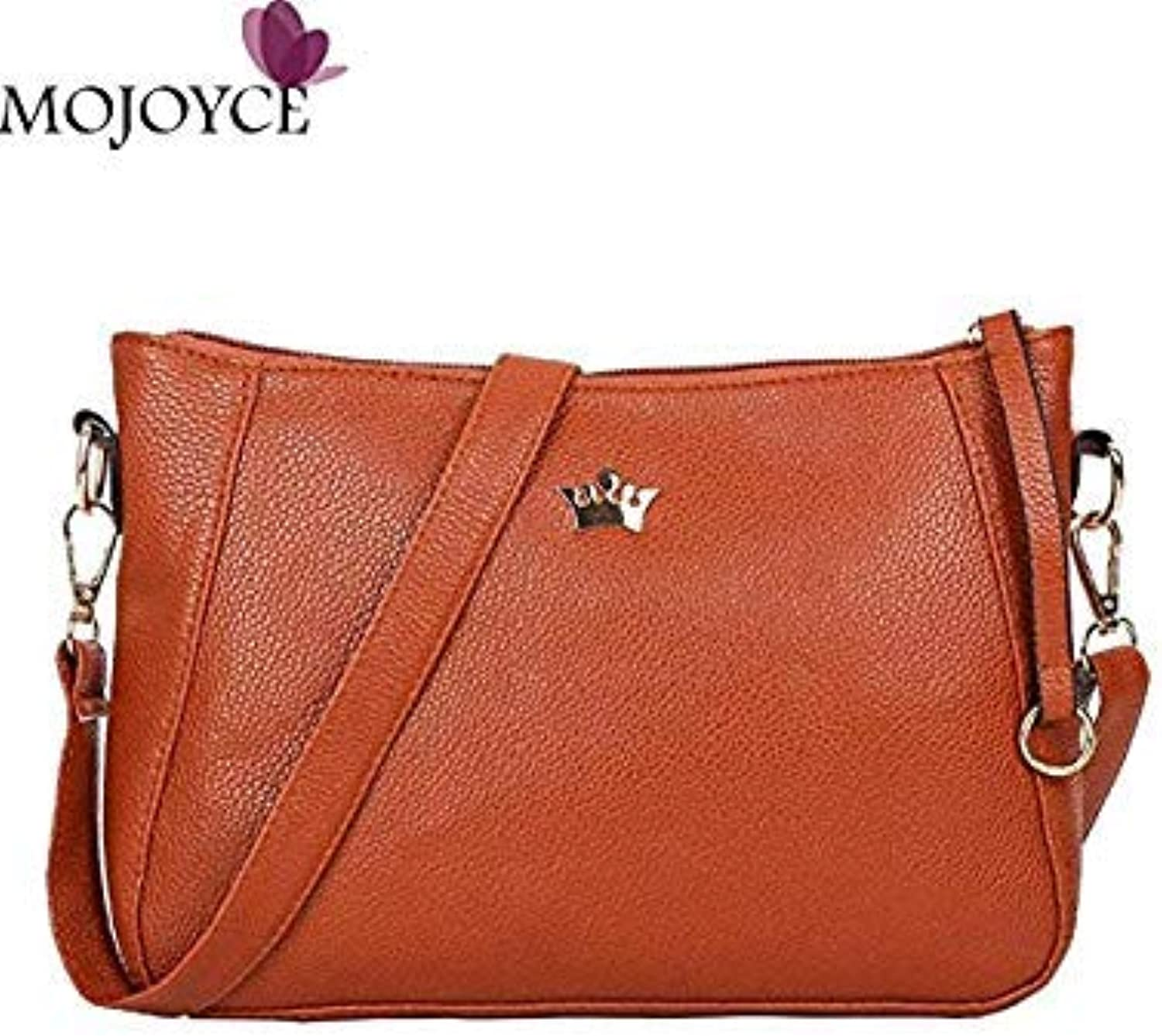 Bloomerang Vintage Small Women Crossbody Bag Fashion PU Leather Shoulder Bag Female Party Messenger Bags Women Crossbody Bag 2018 Handbags color Brown