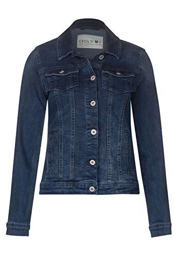 Cecil Damen TOS Color Denim Jacket Jeansjacke, Blau(mid blue used wash)L