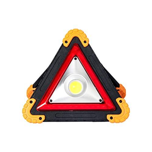 Rsoamy LED Dreieck Warnleuchte, Tragbares LED Arbeitslicht, USB Wiederaufladbare Arbeitsleuchte, Auto-Warnlicht für Garage, Autoreparatur, Camping, Notfall
