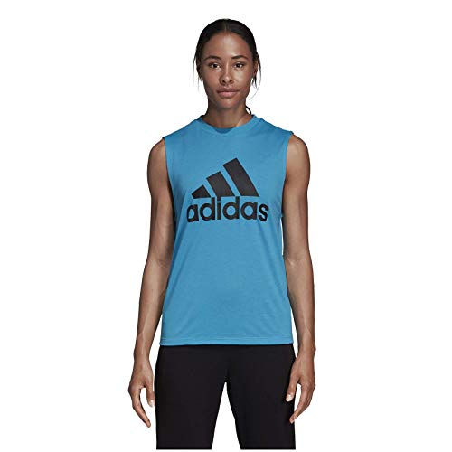 adidas W MH BOS Tank Camiseta de Tirantes, Mujer, ciasho, 2XS