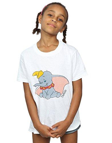 Disney Mädchen Dumbo Classic Dumbo T-Shirt 7-8 Years Weiß