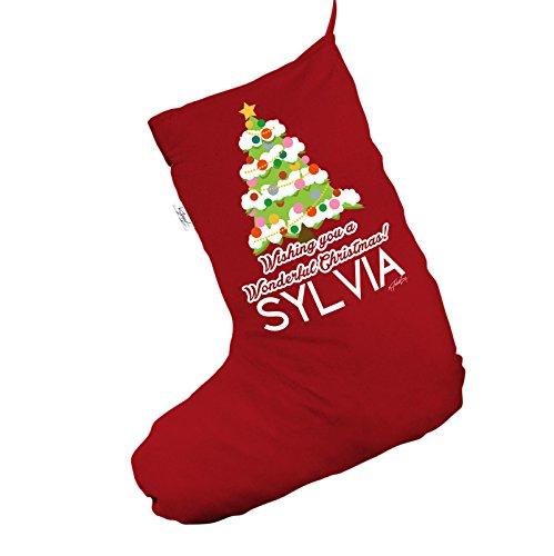 Personalizzato albero di Natale rosso Jumbo 'calza di Natale