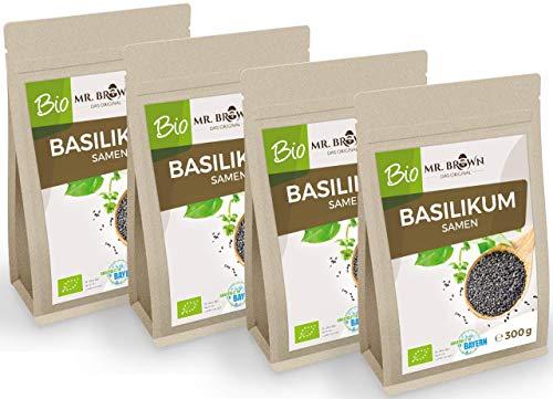 Mr. Brown BIO Basilikum Samen   Basilikumsamen   glutenfrei   kbA   Verwendung wie Chia Samen   abgefüllt in Bayern (1200 GR)