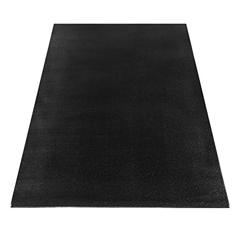 Matladin Exercise Equipment Mat, High Density Durable Mat for Treadmills, Cycles, Rowers, Cross Trainers and Other Fitness Equipment, Black (6.5' x 2.9' x 0.24'', Black)