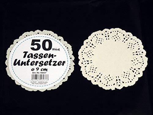 Preisjubel 10 x 50 Tassenuntersetzer = 500 Stück aus Papier, Tortenspitze, Tortendeckchen