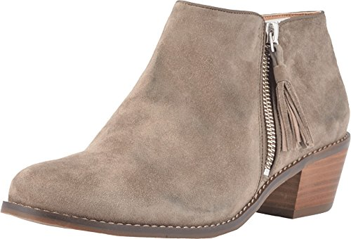 Vionic Women's Joy Serena Ankle Boot - Ladies Everyday Boots with Concealed Orthotic Arch Support Greige 10M US
