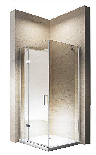 Douchecabine hoek, van NANO-glas, EX403, 90 x 90 x 195 cm