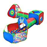Product Image of the 5pc Kids Ball Pit Tents and Tunnels, Toddler Jungle Gym Play Tent with Play...