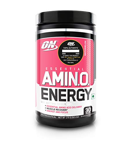Optimum Nutrition (ON) Amino Energy - Pre Workout with Green Tea Extract, BCAA, Amino Acids, Green Coffee Extract, Energy Powder - Watermelon, 30 Servings
