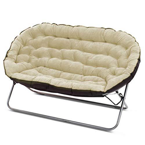 Paresseux Canapé Double Tatami Simple Décontracté Chambre Salon Petit Appartement Simple Pliage Tissu Petit Canapé-Lit Doux Et Confortable (Couleur : Beige)