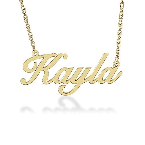 Jewelsmart Gold Plated Personalized Customized Name Pendent Chain Necklace for Women and Girls