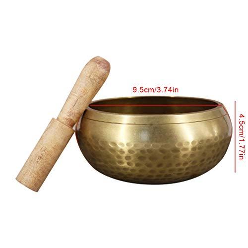 Yalatan singen Schale Set, Yoga Instrument singen Schale Meditation pure Kupfer Buddha Sound Bowl Buddha Sound Bowl Kupfer Schüssel-Lin Muster Schale, Exquisite
