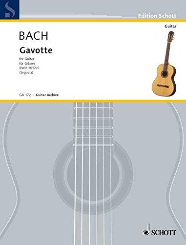 Gavotte E-Dur: BWV 1012. Gitarre. (Edition Schott)