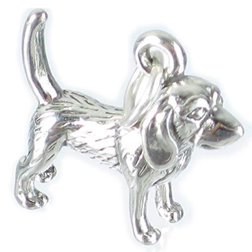 Beagle Hund Sterling Silber Anhänger .925 x 1 Spürhund Hund Charme sslp3200