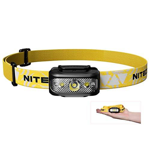 Nitecore NU17 Stirnlampe - LED Wiederaufladbar 130 Lumen Kopflampe Joggen mit Rotlicht [USB Wiederaufladbar]