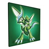 Scyther Poke-M-On Poster Painting 12x12 Inch Large Framed Canvas Wall Art For...