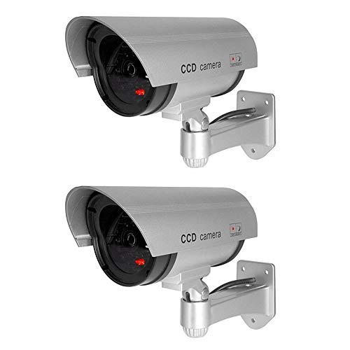 ELEAR 2 X Plata Falsa Seguridad Ficticia cámara de CCTV Dummy Simulada...