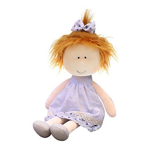 LICHENGTAI Muñeca de trapo, 35 cm/45 cm, muñecas de trapo para niñas, juguete hecho a mano, muñecas de trapo personalizadas para niños, muñeca de trapo de ojos, muñeca suave para niñas