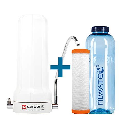 filwatec Carbonit SanUNO Basic I IFP Puro Monoblock Membran I Wasserfilter Auftischfilter I Trinkwasseraufbereitung Aktivkohlefilter I Wasserfilter Trinkflasche