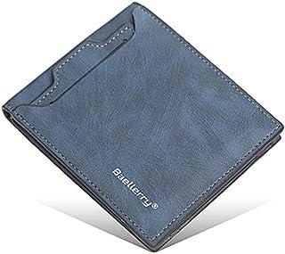 محفظة جلد للرجال مع جيب خارجي بكراتة- ازرق من بايليري