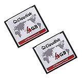 Cloudisk Compact Flash Memory Card CF Card High Speed Reader Camera Card for DSLR (4GB2PK)