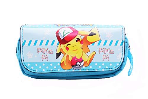 Anime Domain Estuche para lápices de Pikachu de Pokemon (B)