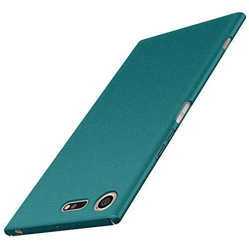 Anccer Funda Sony Xperia XZ Premium [Serie Colorida] [Ultra-Delgado] [Ligera] Anti-rasguños Estuche para Case Sony Xperia XZ Premium (Grava Verde)