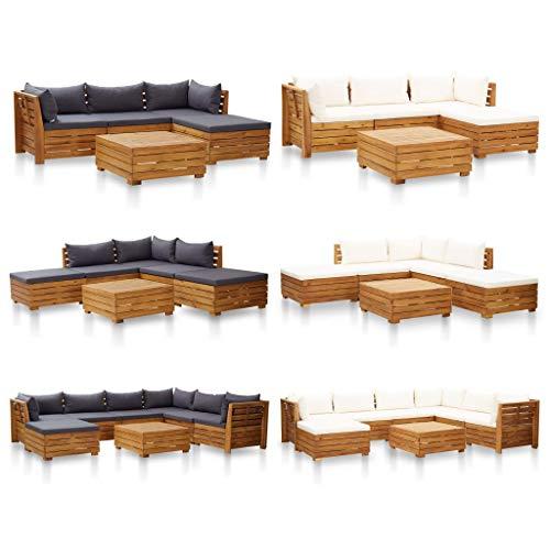 Tidyard Modular-Tisch 1 STK.aus massivem Akazienholz,Garten-Sofagarnitur Garten-Lounge-Set Gartengarnitur Sitzgruppe 68 x 68 x 30 cm