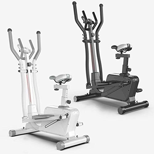 ZIZISHUANG Ellipsentrainer for den Heimgebrauch, Cross-Trainer mit iPad-Halter, 3 in 1 Laufband, Spinning Bike, Stepper, Größe: 152 * 92 * 50 cm ZI915 (Color : Black)