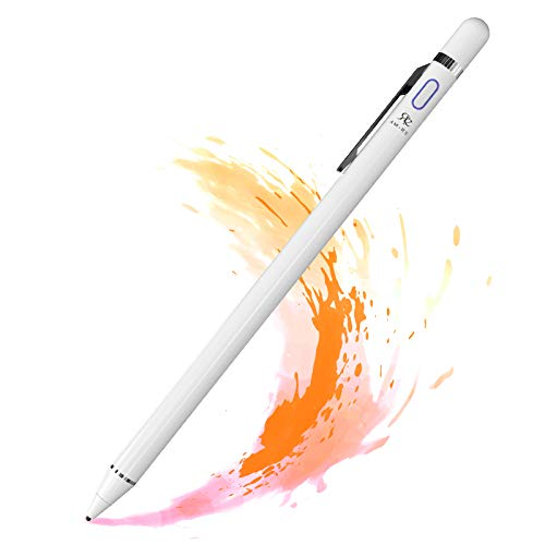 Re Stylus Pen for Touch Screen Apple iPad 1.5mm Fine Tip Pencil High Sensitive USB Rechargeable Perfect for Drawing Writing Universal Compatible with iOS Android Kindle Tablet with Pen Clip