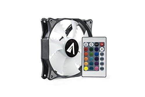 Abysm RGB SLED - Ventilador Gaming PWM de 120 mm con Mando a Distancia, Color Blanco y Negro