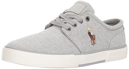 Polo Ralph Lauren Men's Faxon Low Sneaker, Grey 7, 8 D US